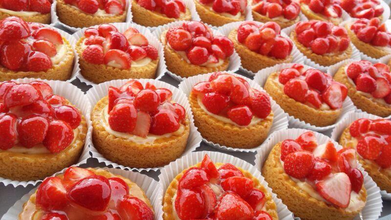 Aardbeienrondo's